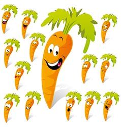 Carrot cartoon vector