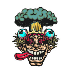 cartoon head exploding eyes popping out vector image