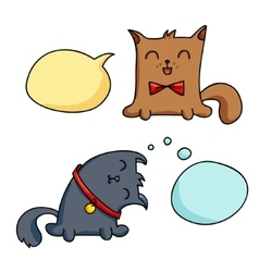 Cat character vector image vector image