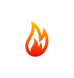 fire gas abstract logo vector image