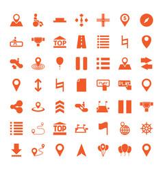 49 navigation icons vector image