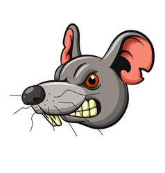 angry mouse head mascot design vector image