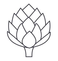 artichoke line icon sign on vector image