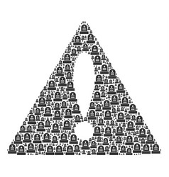 attention triangle sign pattern of grave icons vector image