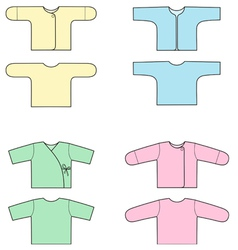 Baby blouses vector image