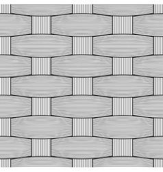 Basketwork Drawing Only black on transparent vector image