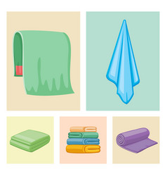 Bathroom towels icons vector