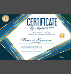 certificate retro design template 26 vector image