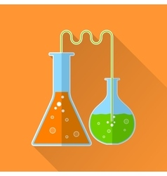 Chemical reaction flat icon vector image
