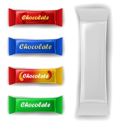 Chocolate bar package set vector