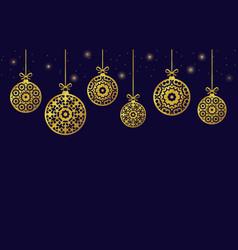 Christmas balls ornaments xmas decoration vector