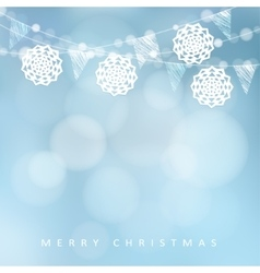 Christmas card Winter party decoration vector image