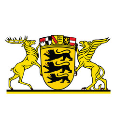 coat arms baden-wurttemberg vector image