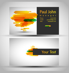colorful and elegant business card design with vector image