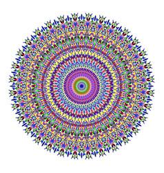 Colorful flower mandala ornament - design vector