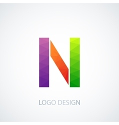 colorful logo letter n vector image