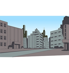 Comics City Street Scene Background vector image