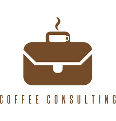 concept with cup of coffee and briefcase vector image