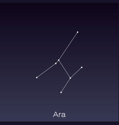 Constellation as it can be seen naked eye vector