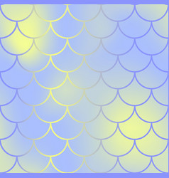 contrast fish skin with scale pattern mermaid vector image