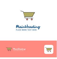 creative cart logo design flat color logo place vector image