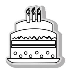 Delicious dessert cake vector