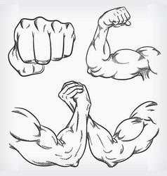 Doodle fitness gym sketch bodybuilding drawing vector