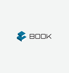 electronic book app logo reading and studying vector image