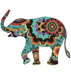 elephant with oriental decor vector image