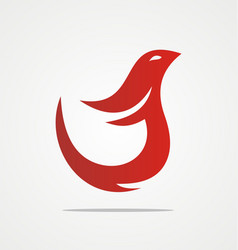 fire bird abstract company logo vector image