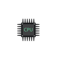 flat cpu element of flat vector image