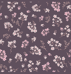 floral seamless pattern ornamental flowers summer vector image