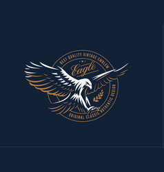 flying eagle emblem vector image