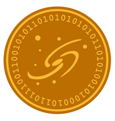 Galaxy system digital coin vector