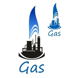 Gas and oil industry icon vector image