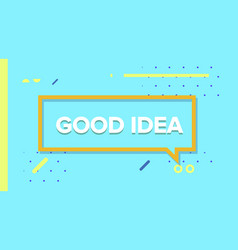 good idea in design banner template for vector image