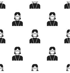 Grandmother icon black single avatarpeaople icon vector