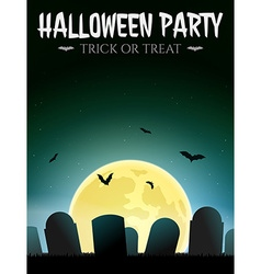 Halloween Card with gravestones vector