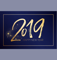 happy new uear post with nice lettering 2019 in vector image