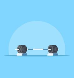 heavy barbell icon vector image