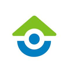 home logo icon design vector image