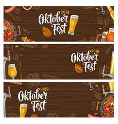 horizontal posters to oktoberfest 2019 festival vector image