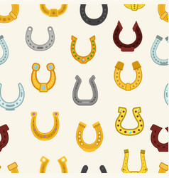 horseshoe luck horse hoof shoe lucky symbol vector image