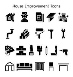 house improvement icon set vector image