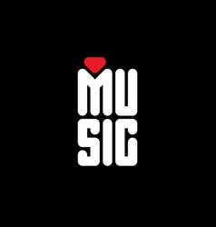 i love music - original t-shirt print minimalist vector image