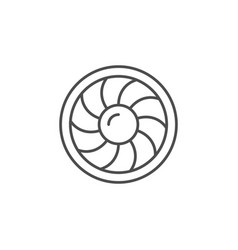 industrial fan line outline icon vector image