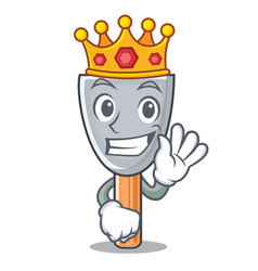 King vintage putty knife on mascot vector