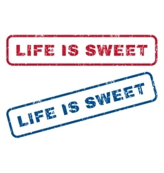 Life Is Sweet Rubber Stamps vector image