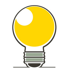 light bulb icon cartoon style vector image