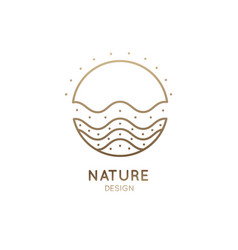 Logo wavy sun vector